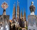 Temple expiatoire de la Sainte Famille - Sagrada Família - Barcelone, Espagne.