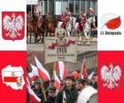 Fête nationale polonais, le 11 novembre. Commémoration de l'indépendance de la Pologne en 1918