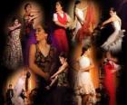 Danceuse. Flamenco a ses origines dans le folklore du peuple gitan et la culture populaire d'Andalousie, Espagne