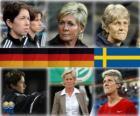 Nominé pour la FIFA World entraîneur de l'année pour le football féminin 2010 (Maren Meinert, Silvia Neid, Pia Sundhage)