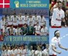 Médaille d'Argent Danemark dans le monde 2011 de Handball