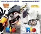 affiches de cinéma de Rio, avec des personnages (2)