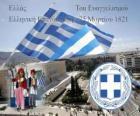 Fête de l'Indépendance de la Grèce, Mars 25, 1821. Guerre de l'indépendance ou Révolution grecque