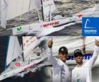 Le Mapfre deuxième de la Barcelona World Race 2010-11