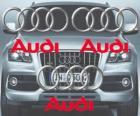 Logo d'Audi, marque automobile allemande