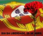 Journée de la liberté, le 25 avril, fête nationale du Portugal pour commémorer la Révolution des œillets de 1974