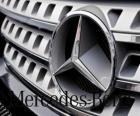 Logo de Mercedes, Mercedes-Benz, marque de véhicules allemande. Étoile à trois branches de Mercedes