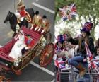 British Royal mariage entre le prince William et Kate Middleton, la marche dans le transport acalamados citoyens