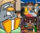 Sensei est un être vivant pingouin très sage dans le Dojo et leur apprend à être pingouins ninja