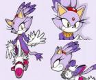 Blaze the Cat, une princesse et un des amies de Sonic