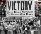 Commémoration de la victoire des Alliés sur le nazisme et la fin de la Seconde Guerre mondiale. Jour de la Victoire, le 8 mai 1945
