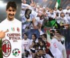 AC Milan, champion de la Ligue italienne de football - Lega Calcio 2010-11
