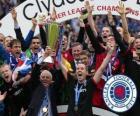 Rangers FC, Rangers de Glasgow, qui a remporté la Ligue de football écossais 2010-2011