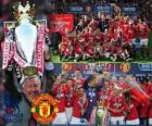 Manchester United, champion de la ligue de football anglais. Premier League 2010-2011