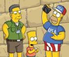 Simpson famille visiter Jérusalem