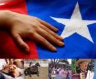 Fêtes patriotiques au Chili. Le dix-huitième tenue les 18 et Septembre 19 en commémoration du Chili en tant qu'Etat indépendant