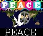 Journée internationale de la paix. Journée mondiale de la paix. 21 septembre est dédiée à la paix et l'absence de guerre