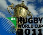 Coupe du Monde de Rugby 2011. Elle est célébrée en Nouvelle-Zélande à partir 9 septembre au 23 octobre