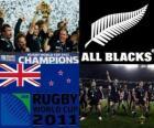Nouvelle-Zélande, championne du monde de rugby. Coupe du Monde de Rugby 2011