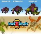 Headhorn Cub, Headhorn Scout, Headhorn Max. Invizimals Shadow Zone. Le grand bison par les Amérindiens craignaient
