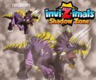 Triceratops. Invizimals Shadow Zone. Herbivore Invizimals avec une grande force et la bravoure