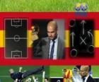 Pep Guardiola entraîneur de football de hommes la FIFA de l'année 2011