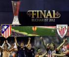 Atlético Madrid vs Athletic Bilbao. Finale Europe Ligue 2011-2012 dans le stade National de Bucarest, Roumanie