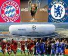 Bayern Munich vs Chelsea FC. Finale UEFA Champions League 2011-2012. Allianz Arena, Munich, Allemagne