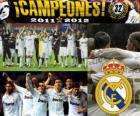 Real Madrid, champion de la ligue espagnole de football 2011-2012