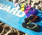 Sandales tongs à profiter de l'été