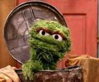 Oscar dans sa poubelle