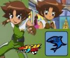 Mitsuki Kaibara des Scan2Go, la puissance du requin lui donne une grande froideur et la cruauté pendant la compétition