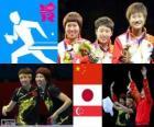 Tennis table équipes femmes LDN12