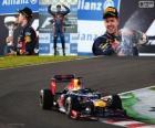 Sebastian Vettel célèbre la victoire lors du Grand Prix du Japon 2012