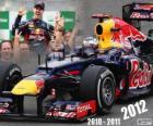 Sebastian Vettel, champion du monde de F1 2012 avec Red Bull Racing
