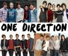 Les 5 membres du groupe One Direction