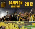 Club Atlético Peñarol champion du Torneo Apertura 2012, Uruguay