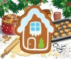 Biscuit de Noël en forme de maison