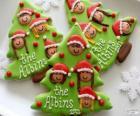 Biscuits de Noël en forme d'arbre de Noël