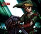 Lien avec l'épée et un bouclier dans les aventures du jeu vidéo The Legend of Zelda