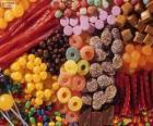 Un grand nombre de bonbons