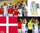 Danemark médaille d'argent coupe du monde de handball 2013