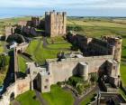 Le château de Bamburgh, Angleterre