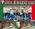 Legia Varsovie, champion Ekstraklasa 2012-2013, Ligue de Football de la Pologne