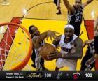 Finales NBA 2013, 6 partie, San Antonio Spurs 100 - Miami Heat 103