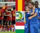 Demi-finale, Espagne - Italie, coupe des confédérations 2013