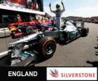 Nico Rosberg fête sa victoire dans le Grand Prix de Grande-Bretagne 2013