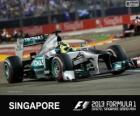 Nico Rosberg - Mercedes - Singapour, 2013