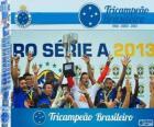 Cruzeiro, champion du championnat de football brésilien en 2013. Brasileirão 2013