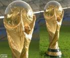 Le trophée de la Coupe du Monde Brésil 2014
